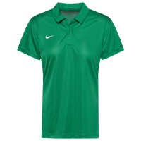 Nike Team S/S Polo - Women's - Green / White