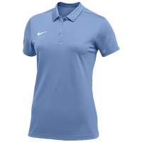 Nike Team S/S Polo - Women's - Light Blue / White
