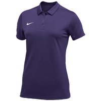 Nike Team S/S Polo - Women's - Purple / White