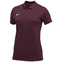 Nike Team S/S Polo - Women's - Cardinal / White