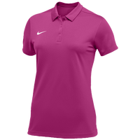 Nike Team S/S Polo - Women's - Pink / White