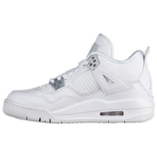 buy air jordan retro 4 boys white/grey