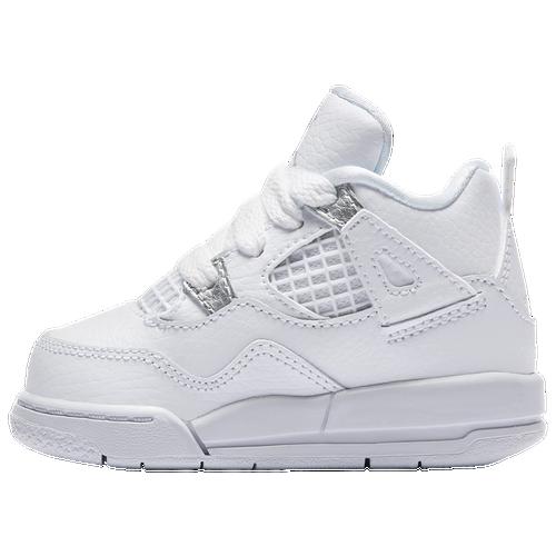 more photos a2124 fadd3 ... Jordan Retro 4 - Boys Toddler - Basketball - Shoes - White Metallic  Silver Pure Platinum ...