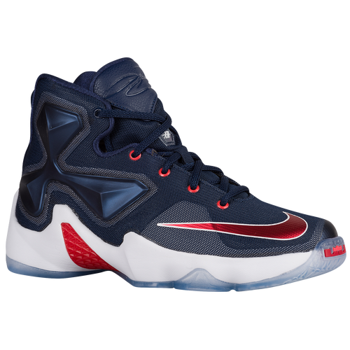 new arrival a87d2 1c56c Nike LeBron XIII Boys Grade School Basketball Shoes Midnight  Navy University Red White Bright Crimson