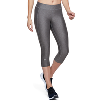 Under Armour HeatGear Armour Capris - Women's - Grey / Grey