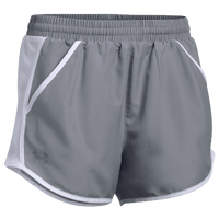 Under Armour Team Fly By Shorts - Women's - Grey / Grey