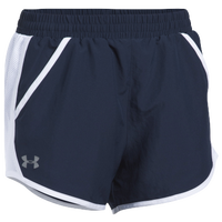 Under Armour Team Fly By Shorts - Women's - Navy / White
