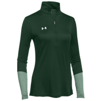 Under Armour Team Locker 1/2 Zip - Women's - Dark Green / Green
