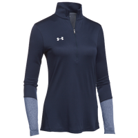 Under Armour Team Locker 1/2 Zip - Women's - Navy / Silver