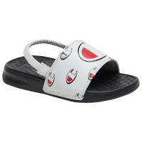 "Champion IPO Repeat ""C"" Slide - Boys' Toddler - Black / White"