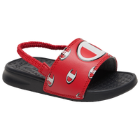 "Champion IPO Repeat ""C"" Slide - Boys' Toddler - Black / Red"