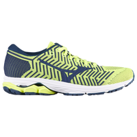 Mizuno Wave Rider 22 Knit - Men's - Yellow / Navy
