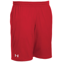 Under Armour Team Pocketed Raid Shorts - Men's - Red / White