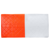 Champro Nylon Quilted Double First Base - Orange / White