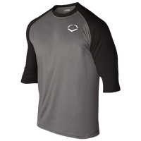 Evoshield 3/4 Team Raglan Shirt - Men's - Grey / Black