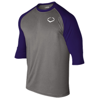 Evoshield 3/4 Team Raglan Shirt - Men's - Grey / Navy