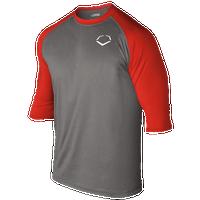 Evoshield 3/4 Team Raglan Shirt - Men's - Grey / Red