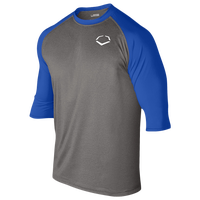 Evoshield 3/4 Team Raglan Shirt - Men's - Grey / Blue