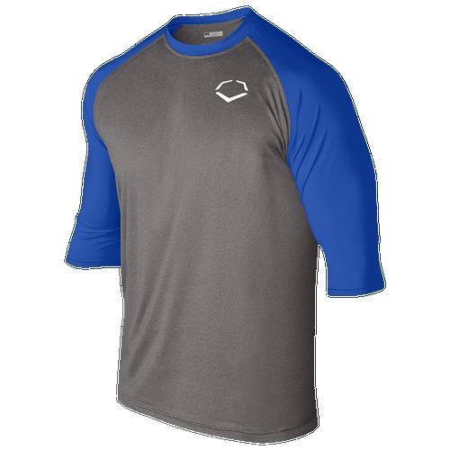 Evoshield 3/4 Team Raglan Shirt - Men's Baseball - Graphite/Navy 102402NV