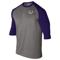 Evoshield 3/4 Team Raglan Shirt - Boys' Grade School - Grey / Navy