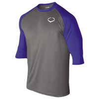 Evoshield 3/4 Team Raglan Shirt - Boys' Grade School - Grey / Blue