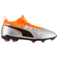 PUMA One 2 Leather FG/AG - Men's - Silver / Orange