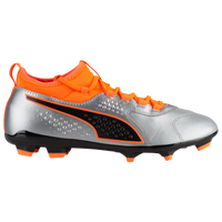 PUMA One 3 Leather FG/AG - Men's - Silver / Orange