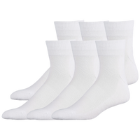 Eastbay 6 Pack Cushion Quarter Socks - Men's - All White / White