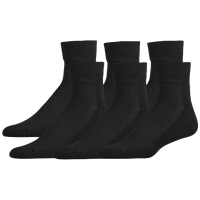 Eastbay 6 Pack Cushion Quarter Socks - Men's - All Black / Black