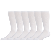 Eastbay 6 Pack Cushion Crew Socks - Men's - All White / White