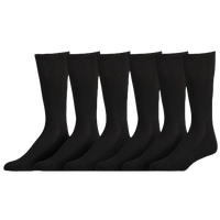 Eastbay 6 Pack Cushion Crew Socks - Men's - All Black / Black