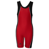 adidas Wide Side Panel Youth Singlet - Boys' Grade School - Red / Black