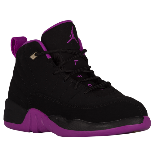 huge discount 9e9d2 e6e48 44aaa 30b36  buy jordan retro 12 girls preschool basketball shoes black  metallic gold star hyper violet a37bc 13bf7