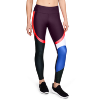 Under Armour Balance Tights - Women's - Purple / Black