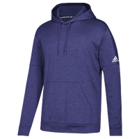 adidas Team Issue Fleece Pullover Hoodie - Men's - Purple / White