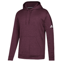 adidas Team Issue Fleece Pullover Hoodie - Men's - Maroon / White