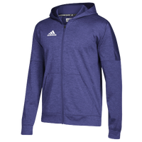 adidas Team Issue Fleece Full Zip Hoodie - Men's - Purple / White
