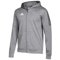 adidas Team Issue Fleece Full Zip Hoodie - Men's - Grey / White