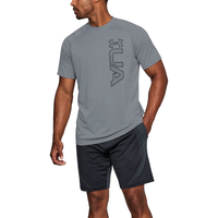 Under Armour Tech Graphic Short Sleeve Tee - Men's - Grey / Black