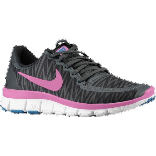 Nike Free 5.0 V4 - Women's - Running - Shoes - Black/Anthracite/White/Red  Violet