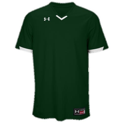 Under Armour Team Ignite V-Neck Baseball Jersey - Men's Baseball - Dark Green/White 112M301