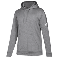 adidas Team Issue Fleece Pullover Hoodie - Women's - Grey / White
