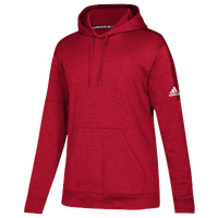 adidas Team Issue Fleece Pullover Hoodie - Women's - Red / White