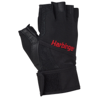 Harbinger Pro Wristwrap Glove - Men's - Black / Red
