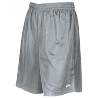 "Eastbay 8"" Basic Mesh Shorts - Boys' Grade School - Silver / Silver"