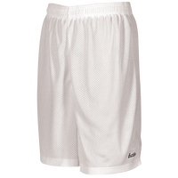 "Eastbay 8"" Basic Mesh Shorts - Boys' Grade School - All White / White"