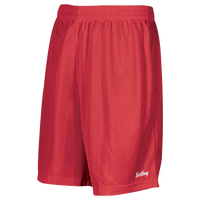 "Eastbay 8"" Basic Mesh Shorts - Boys' Grade School - Red / Red"