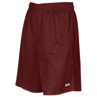 "Eastbay 8"" Basic Mesh Shorts - Boys' Grade School - Maroon / Maroon"