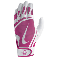 Nike Huarache Edge Batting Gloves - Men's - White / Pink
