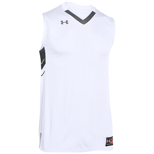272d631c725f Under Armour Team Crunch Time Jersey Mens Basketball Clothing White Team  Graphite chic